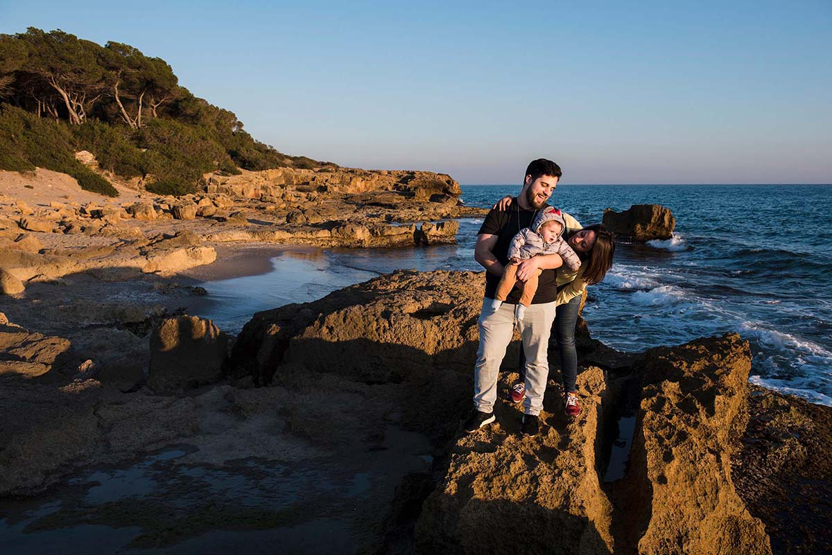 sesión de fotos familia tarragona